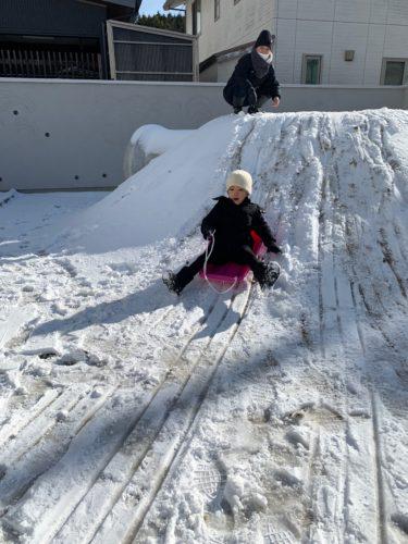雪遊び!!