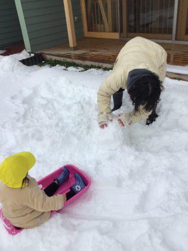 雪遊び!!②
