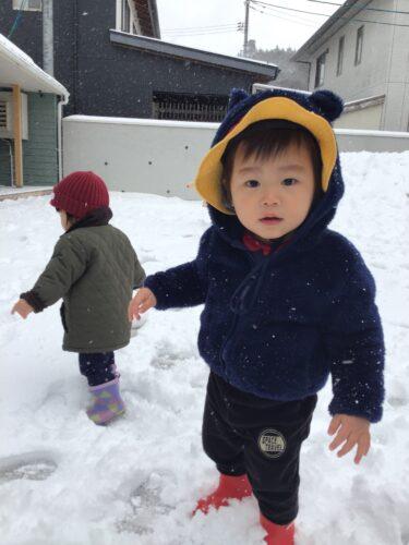 雪が降った!降った!